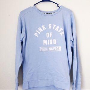💜PINK VS Pink State of Mind Blue Sweatshirt